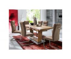 JUSTyou Rokel II Table de salle a manger Bois de Hetre