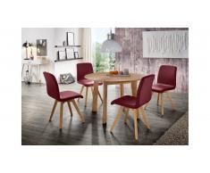 JUSTyou Olafio Table de salle a manger Chene sauvage