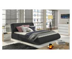 JUSTyou Tessa Lit rembourre Anthracite 140x200