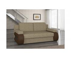 JUSTyou Laura Canapé lit sofa 100x200x89 Beige Brun