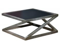 JUSTyou Acort Table basse Noir Aluminium