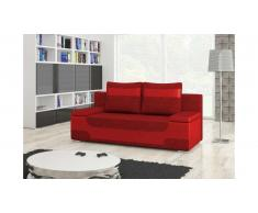 JUSTyou Area Canapé lit sofa 95x200x73 Rouge Rouge I
