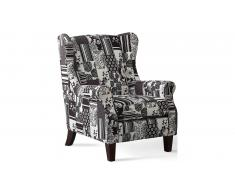 JUSTyou Chatir Fauteuil Patchwork