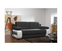 JUSTyou Laura Canapé lit sofa 100x200x89 Noir Blanc