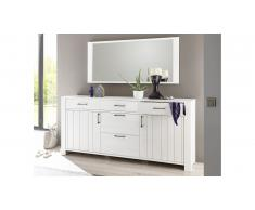 JUSTyou Clermont Commode Pin Blanc