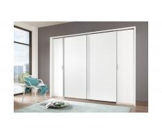 JUSTyou Arafo Armoire a portes coulissantes Blanc