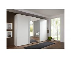 JUSTyou Almeria Armoire a portes coulissantes Blanc