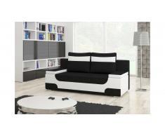 JUSTyou Area Canapé lit sofa 95x200x73 Blanc Noir
