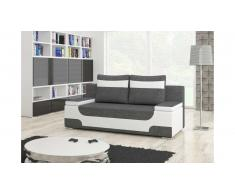 JUSTyou Area Canapé lit sofa 95x200x73 Blanc Gris