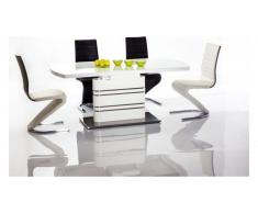 JUSTyou Gucci Table a rallonge Blanc 76x85x140-200 cm