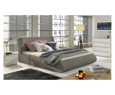 JUSTyou Tessa Lit rembourre Taupe 140x200