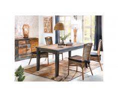 JUSTyou Tessy Table de salle a manger Marron 90x140 cm