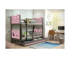 JUSTyou Ola Lit superposé Anthracite Rose