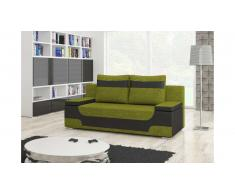 JUSTyou Area Canapé lit sofa 95x200x73 Noir I Vert