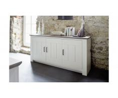 JUSTyou Amargo Commode Pin | Blanc| Taupe