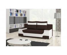 JUSTyou Area Canapé lit sofa 95x200x73 Blanc Brun