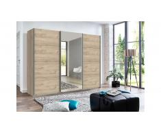 JUSTyou Almeria Armoire a portes coulissantes Chene