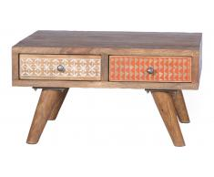 JUSTyou Nadine Table basse Sheesham Multicolore