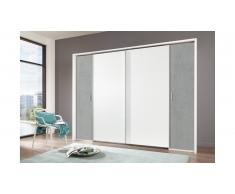JUSTyou Arafo Armoire a portes coulissantes Beton