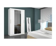 JUSTyou Dallas Armoire Penderie 215x180x58 cm Blanc