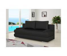 JUSTyou Milo Canapé lit sofa 95x205x90 cm Noir