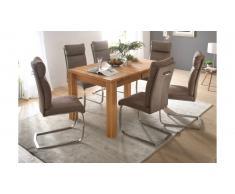 JUSTyou Arve Table de salle a manger Bois de Hetre