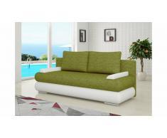 JUSTyou Milo Canapé lit sofa 95x205x90 cm Blanc Vert
