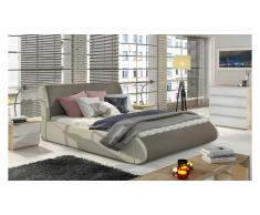 JUSTyou Tessa Lit rembourre Taupe   Creme 140x200