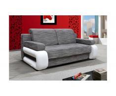 JUSTyou Laura Canapé lit sofa 100x200x89 Gris Blanc