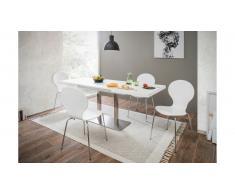 JUSTyou Otardo Table de salle a manger Blanc 80x120
