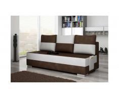 JUSTyou Atila Canapé sofa Tissu cuir éco Brun Blanc