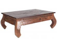 JUSTyou Baldric Table basse Teck 70x100 cm