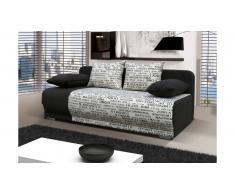 JUSTyou Roma Canapé lit sofa 90x200x95 Noir Journal