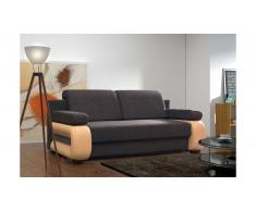 JUSTyou Laura Canapé lit sofa 100x200x89 Brun Orange