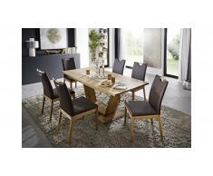 JUSTyou Malpa Table de salle a manger 90x130 cm Chene