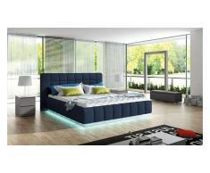 JUSTyou PRATO Lit rembourré 170-x226x105 cm Bleu