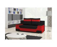 JUSTyou Area Canapé lit sofa 95x200x73 Rouge Noir