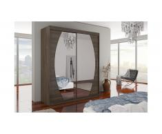 JUSTyou Baltimore Armoire Penderie 215x180x58 Choco