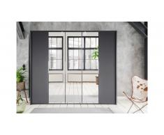 JUSTyou Valbom Armoire a portes battantes Anthracite