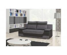 JUSTyou Area Canapé lit sofa 95x200x73 Noir I Gris
