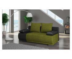 JUSTyou Roma Canapé lit sofa 95x200x90 Noir Vert
