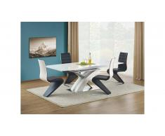 JUSTyou Sandor Table salle a manger Blanc