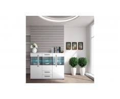 JUSTyou Artana buffet Blanc mat | Blanc brillant