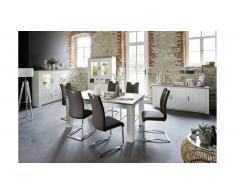 JUSTyou Amargo Table de salle a manger Pin| Taupe