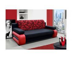 JUSTyou Laura Canapé lit sofa 100x200x89 Noir Rouge
