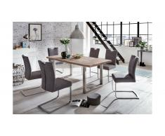 JUSTyou Phanes Table Chene 100x220 Acier