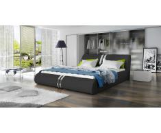JUSTyou Maipo Lit rembourré Anthracite 160x200