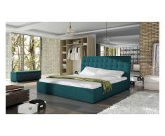 JUSTyou TERASSO Lit rembourré 175x227x102 Turquoise