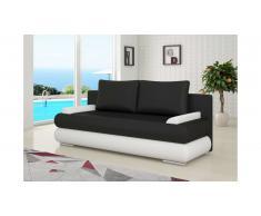 JUSTyou Milo Canapé lit sofa 95x205x90 cm Noir Blanc