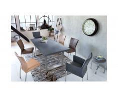 JUSTyou Loft IV Table de salle a manger Ciment 90x180